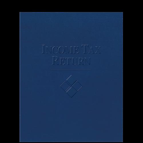 FOLDER5LGX - Embossed Income Tax Return Folder with Pocket for Large Returns