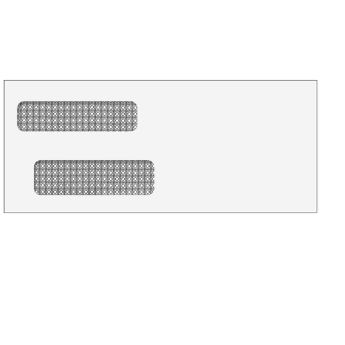 E939S - Double Window Envelope 3 7/8 x 9 1/8 (Self Seal)