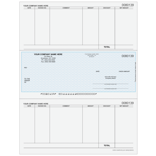 L80139 - Accounts Payable Middle Business Check