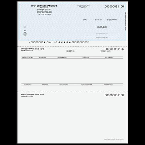 L81106 - Accounts Payable Top Check