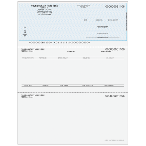 L81106 - Accounts Payable Top Business Check