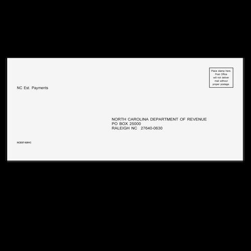 NCEST10 - NC Estimate Envelope 3 7/8 x 8 7/8