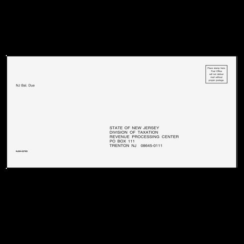NJB410 - NJ Balance Due Envelope