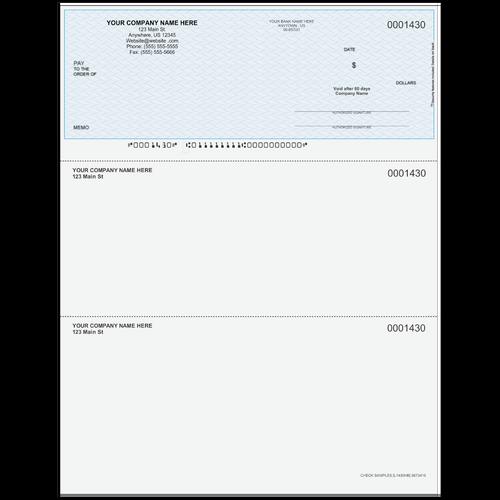 L1430 - Multi-Purpose Top Business Check