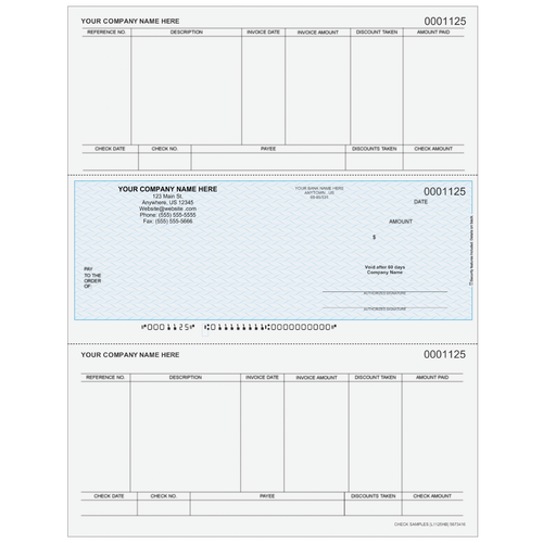 L1125 - Accounts Payable Middle Business Check