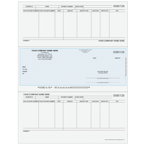 L80126 - Accounts Payable Middle Business Check