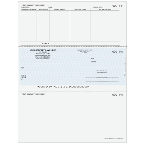 L1141 - Accounts Payable Middle Business Check