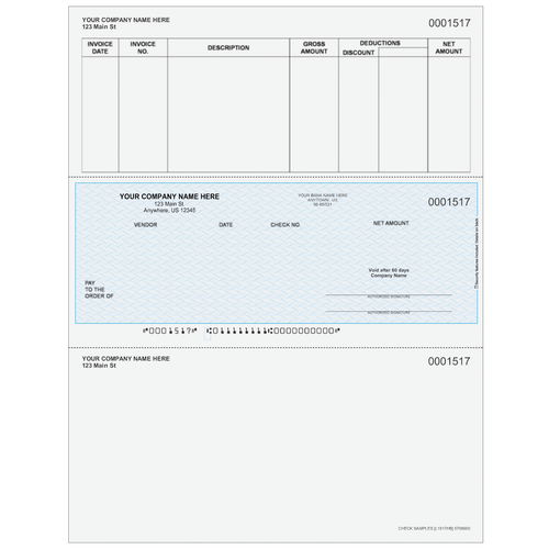L1517 - Accounts Payable Middle Business Check