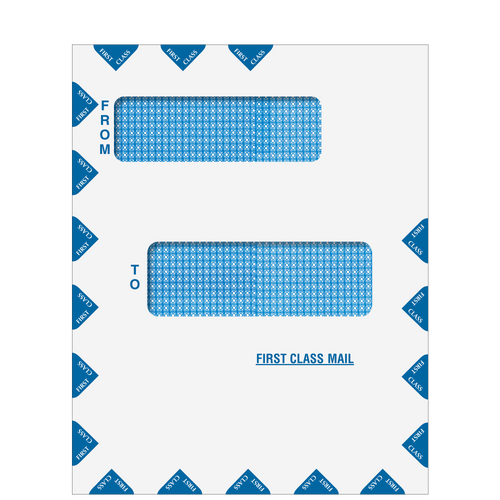 80015 - Offset Double Window First Class Mail Envelope