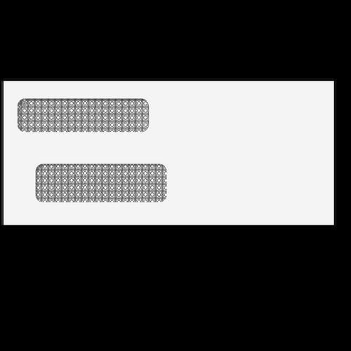 "ENV9903 - Double Window Envelope - 3 7/8"" x 8 7/8"" (Self Seal)"
