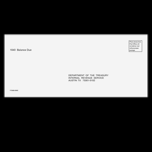FTXNB10 - 1040 Balance Due Envelope - Austin, TX