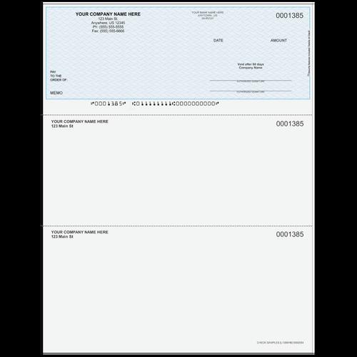L1385 - Multi-Purpose Top Business Check