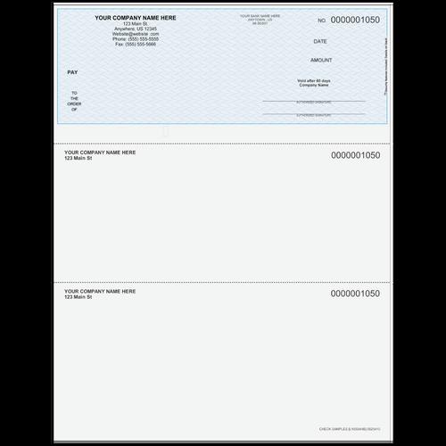 L1050A - Multi-Purpose Top Business Check