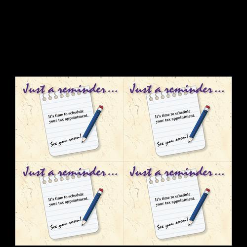 CARD0414 - Just a Reminder Postcards (Preprinted Laser Sheet)
