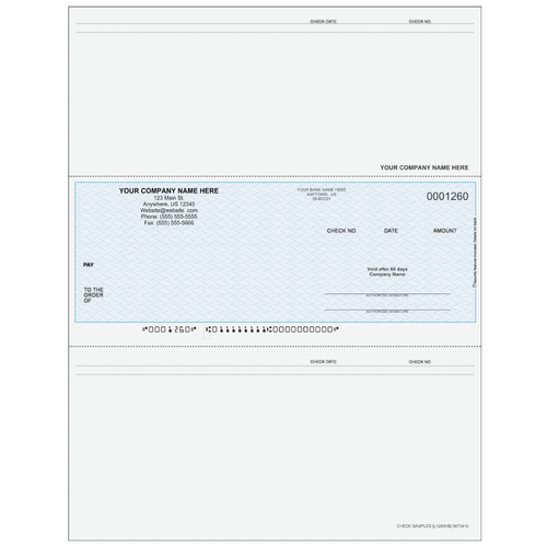 L1260 - Accounts Payable Middle Business Check
