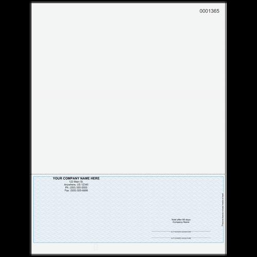 L1365 - Multi-Purpose Bottom Business Check (One Perf)