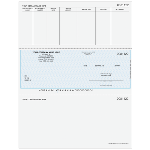 L81122 - Accounts Payable Middle Business Check