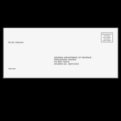 GAEST10 - GA Estimate Envelope 3 7/8 x 8 7/8