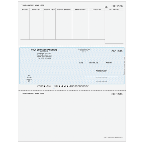 L1186 - Accounts Payable Middle Business Check