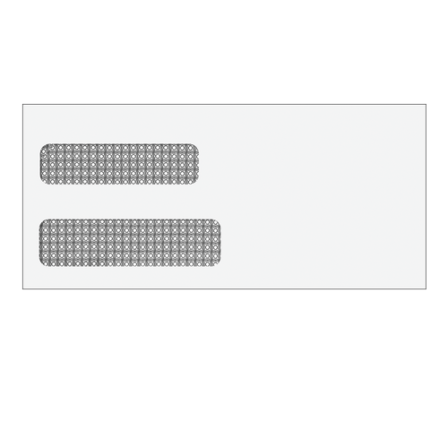E5122S - Double Window Self Seal Envelope - 4 1/8 x 9 (Self Seal)