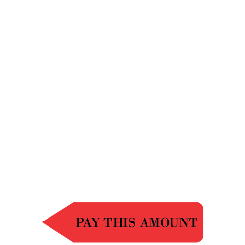 CTPAY14 - RediTag 'Pay This Amount' (Dispenser 120 Tags)