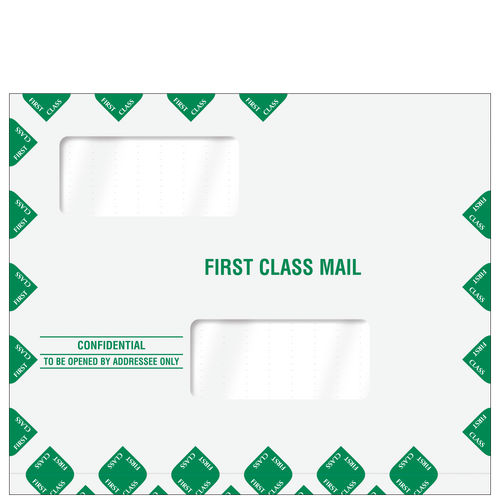 80343EXP - Double Window First Class Mailing Envelope Expandable