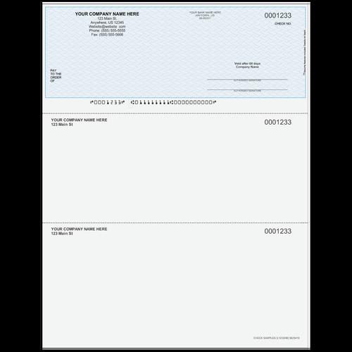 L1233 - Multi-Purpose Top Business Check