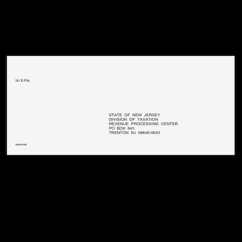 NJEF410 - NJ E-File Envelope