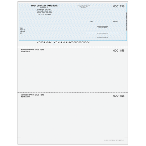 L1158A - Multi-Purpose Top Business Check