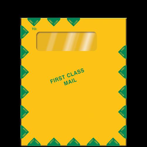E030 - Single Window Brown Kraft Envelope