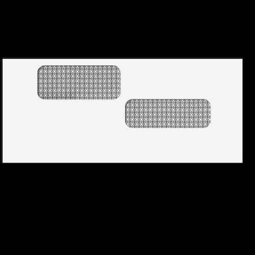 "E9960214 - Double Window Envelope - Moisture Seal - 4 1/8"" x 9 1/2"" - #10"