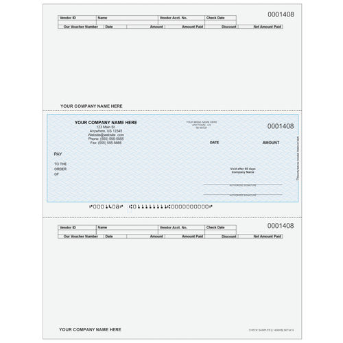L1408 - Accounts Payable Middle Business Check