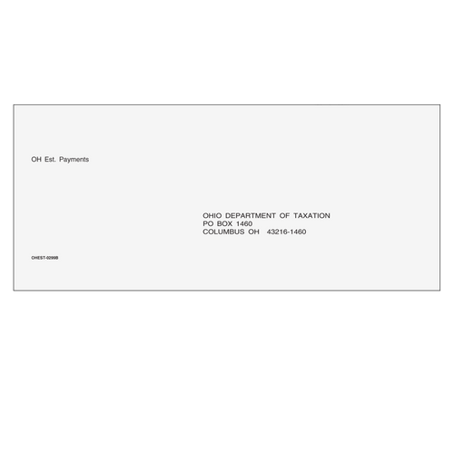 OHEST10 - OH Estimate Envelope 3 7/8 x 8 7/8