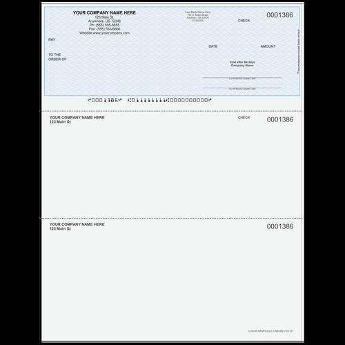 L1386 - Multi-Purpose Top Business Check