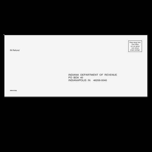 INR410 - Indiana Refund Envelope