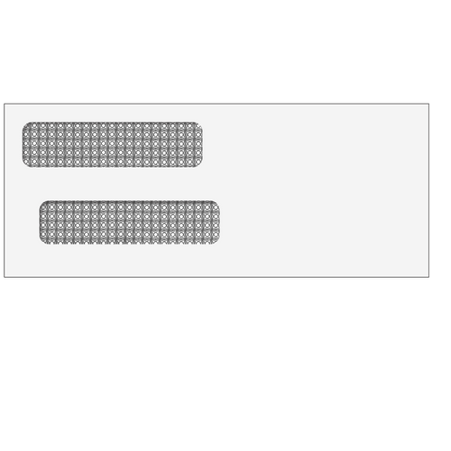 E91534S14 - Double Window Envelope (Self Seal)