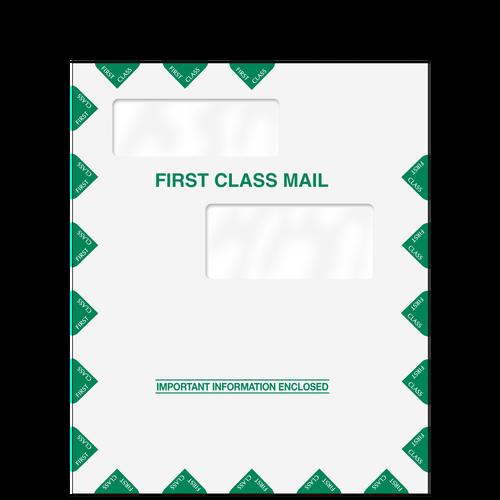 80326 - 9.5 x 11.5 Double Window 1st Class Envelope