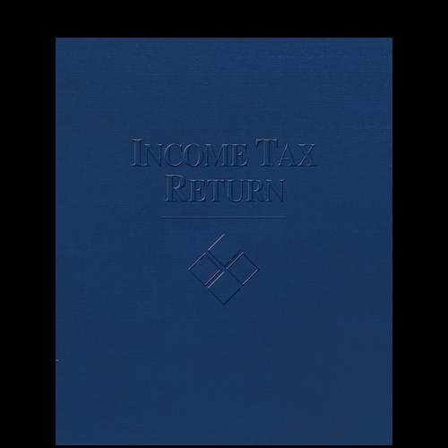 FOLDER5EXB - Embossed Income Tax Return Folder (Expandable)