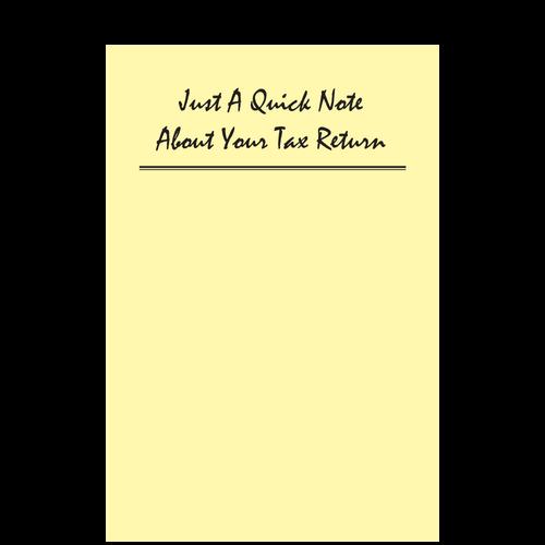 A064 - Quick Tax Return Post-It Notes