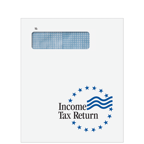 CLNT9F10 - Income Tax Return Window Stars Envelope