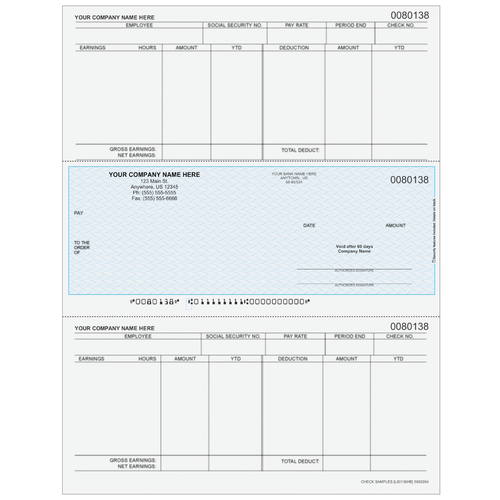 L80138 - Payroll Middle Business Check
