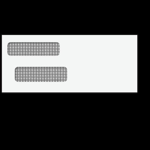 80514 - 3 7/8 x 9 1/8 Double Window Envelope