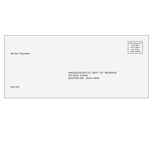 MAEST10 - MA Estimate Envelope 3 7/8 x 8 7/8