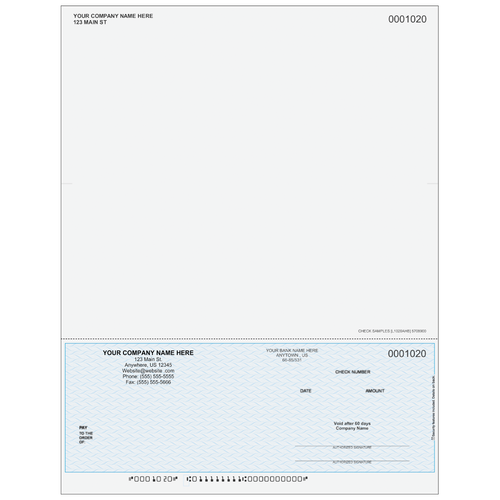 L1020A - Multi-Purpose Bottom Business Check (One Perf)