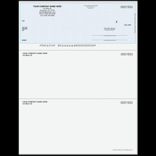 L1553 - Multi-Purpose Top Business Check
