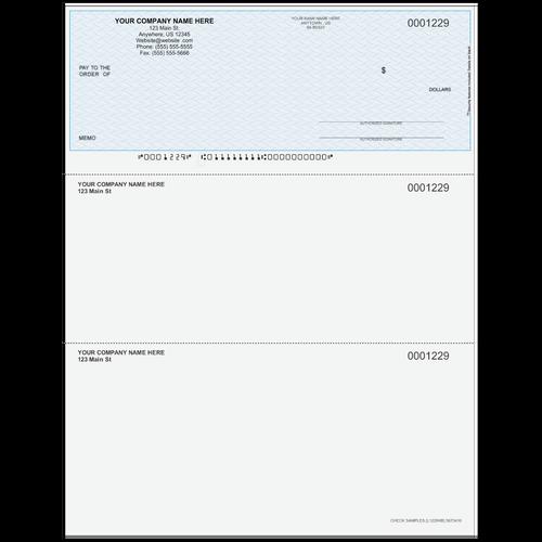 L1229 - Multi-Purpose Top Business Check