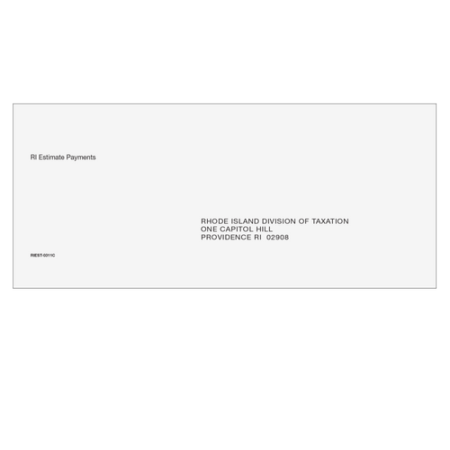 RIEST10 - RI Estimate Envelope 3 7/8 x 8 7/8