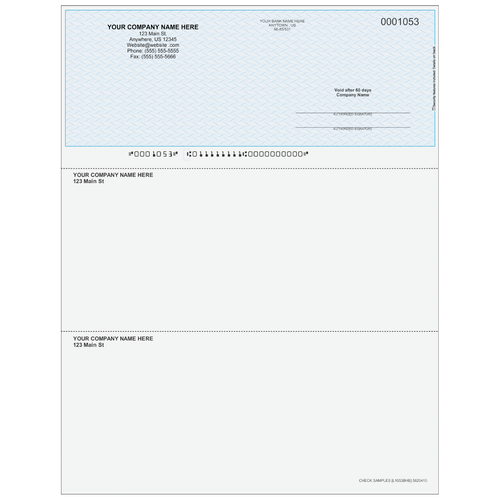 L1053B - Multi-Purpose Top Business Check