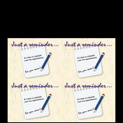 CARD04B14 - Just a Reminder Postcards (Blank Laser Sheet)