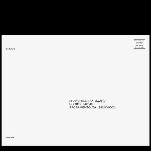 CARNS910 - CA Refund Envelope 9 x 12